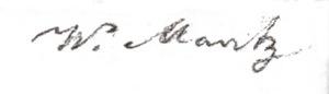 Handtekening van Werner Mantz