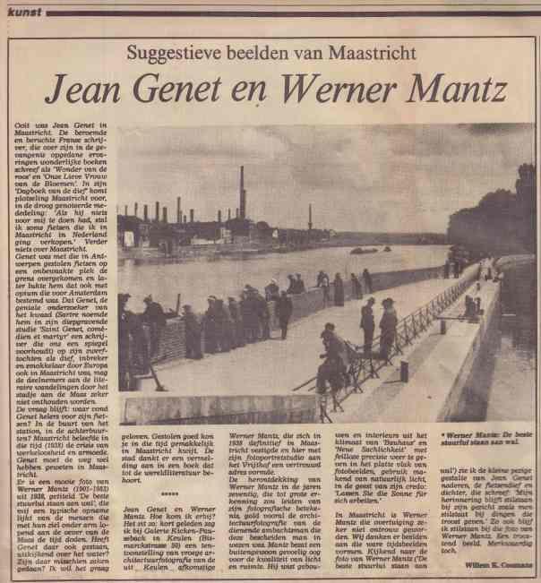 Suggestieve beelden van Maastricht, Jean Genet en Werner Mantz